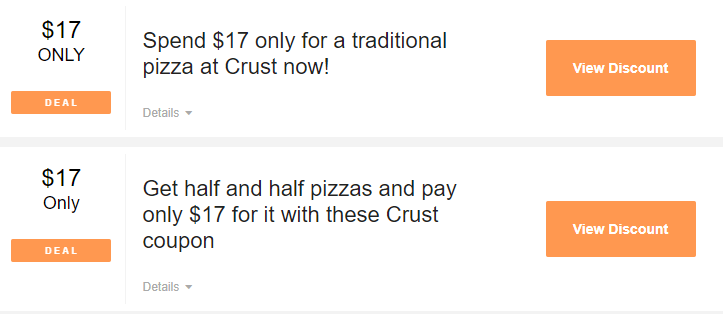 Crust Pizza Coupons