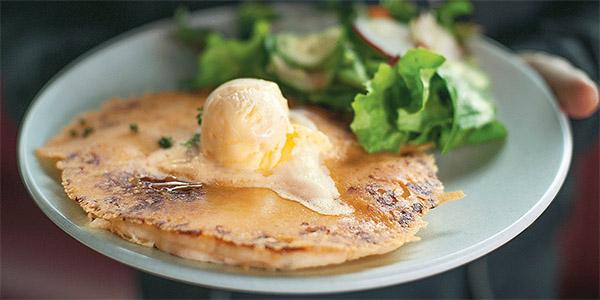 Cheese and potato pancake