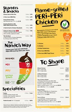 Nando's Restaurant Coupons