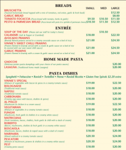 New Take Away Menu
