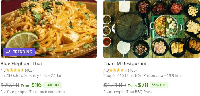 Thai Restaurants Coupons